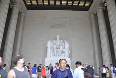 Washington DC, July 5th: Lincoln Memorial inside from Washington District of Columbia USA Royalty Free Stock Photography