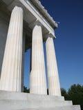 Lincoln memorial kolumny Zdjęcia Royalty Free