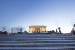 Lincoln Memorial Long Exposure Effect royaltyfri bild