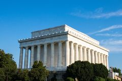 Lincoln Memorial majestoso, Washington D C, foto de stock