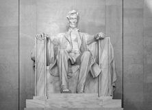 Lincoln Memorial or Monument. A statue of Abraham Lincoln at the Lincoln Memorial or Monument Royalty Free Stock Image