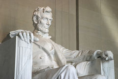 Lincoln Memorial or Monument. Abraham Lincoln statue in the Lincoln Memorial or Monument Stock Images