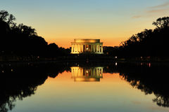 Lincoln Memorial Monument at Sunset, Washington DC Stock Images