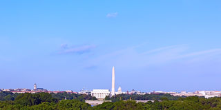 Lincoln Memorial, Monument and United States Capitol building. Stock Photo