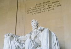 Lincoln Memorial in the National Mall, Washington DC.  Stock Images