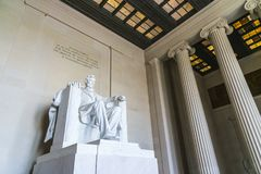 Lincoln Memorial in the National Mall, Washington DC.  Royalty Free Stock Photography