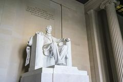 Lincoln Memorial in the National Mall, Washington DC.  Royalty Free Stock Photos