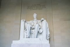 Lincoln Memorial in the National Mall, Washington DC.  Royalty Free Stock Image