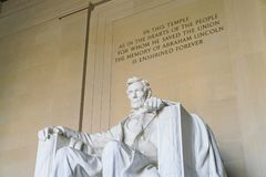Lincoln Memorial in the National Mall, Washington DC.  Royalty Free Stock Images