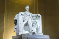 Lincoln Memorial in the National Mall, Washington DC.at night.  Royalty Free Stock Photos