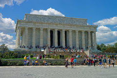 Lincoln Memorial near the National Mall in Washington DC Stock Image