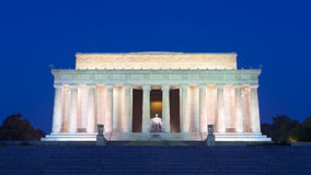 Lincoln Memorial nel centro commerciale nazionale, Washington DC Fotografia Stock