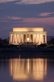 Lincoln Memorial at night Stock Photos
