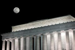 Lincoln memorial at night Royalty Free Stock Images
