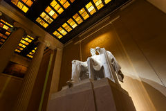 Lincoln Memorial at Night. Lincoln Memorial illuminated at night in Washington DC Royalty Free Stock Photography