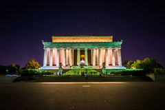The Lincoln Memorial at night at the National Mall in Washington Stock Image