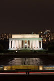 Lincoln Memorial at Night Stock Images