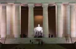 Lincoln Memorial at Night Stock Photos