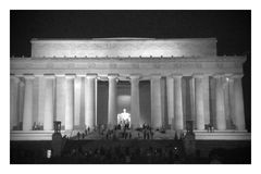 Lincoln Memorial at Night. In the National Mall in Washington DC Stock Photos
