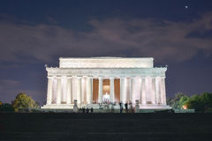 Lincoln Memorial. At night in Washington, DC Royalty Free Stock Photography