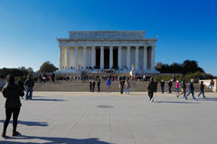Lincoln Memorial no Washington DC, EUA. É um monumento nacional americano construído para honrar Abraham Lincoln. Imagens de Stock Royalty Free