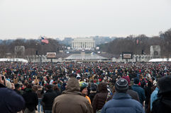 Lincoln Memorial Obama Inauguration Concert Stock Photography