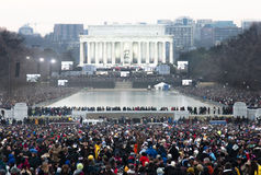 Lincoln Memorial Obama Inauguration Concert Royalty Free Stock Images
