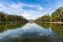 Lincoln Memorial Over Reflecting Pool National Mall Daytime Wash Stock Photography