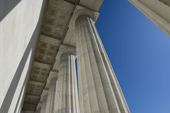 Lincoln Memorial Pillars Stock Image