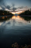 Lincoln Memorial Reflection on the National Mall Lake at Sunset Stock Images
