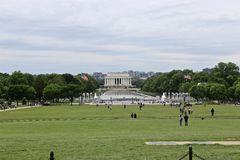 Lincoln Memorial and Reflection pool, view from The Washington Memorial, USA Royalty Free Stock Image