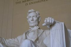 Lincoln Memorial, reminding that all people should be free. royalty free stock photo