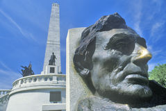Lincoln Memorial Springfield, Illinois Royaltyfria Bilder