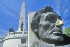 Lincoln Memorial, Springfield, l'Illinois Images libres de droits