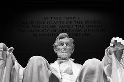 Lincoln Memorial Statue Photo libre de droits