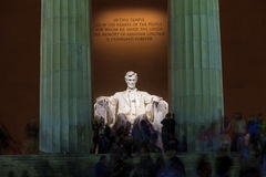 Lincoln Memorial statue at night Royalty Free Stock Image
