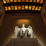 Lincoln Memorial statue at night Stock Image