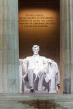 Lincoln Memorial Statue Washington DC Royaltyfri Fotografi