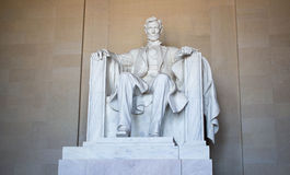 Lincoln Memorial Statue Washington DC Arkivfoto