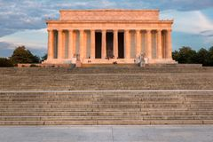 The Lincoln Memorial, Washington DC. The Lincoln Memorial at Sunrise on the National Mall in Washington DC. USA Royalty Free Stock Photography