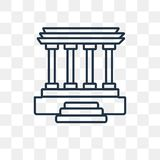 Lincoln memorial vector icon isolated on transparent background, linear Lincoln memorial transparency concept can be used web and royalty free illustration