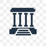 Lincoln memorial vector icon isolated on transparent background,. Lincoln memorial transparency concept can be used web and mobile, Lincoln memorial icon vector illustration
