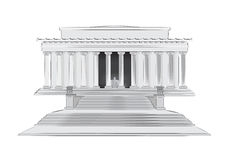 Lincoln Memorial vector illustration Royalty Free Stock Image