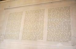 Lincoln Memorial Wall inom från Washington District av Columbia USA royaltyfri bild