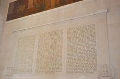 Lincoln Memorial Wall nach innen von Washington District von Kolumbien USA lizenzfreie stockfotos