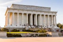 Lincoln Memorial Washington Fotografering för Bildbyråer