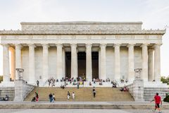 Lincoln Memorial Washington Arkivfoto