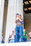 Lincoln Memorial Washington Arkivfoton