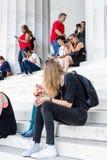 Lincoln Memorial Washington Arkivbilder