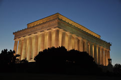 Lincoln Memorial Washington D.C. A view of the Lincoln Memorial by Night Royalty Free Stock Images